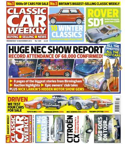 Classic Car Weekly issue 18th November 2015