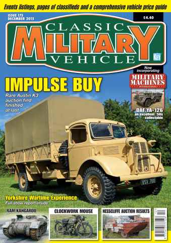 Classic Military Vehicle issue December 2015