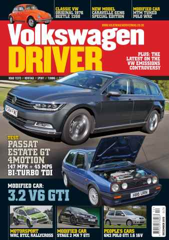 Volkswagen Driver issue December 2015