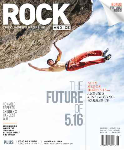 Rock and Ice issue January 2016
