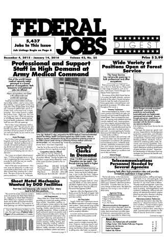 Federal Jobs Digest issue Federal Jobs Digest Vol.42#25