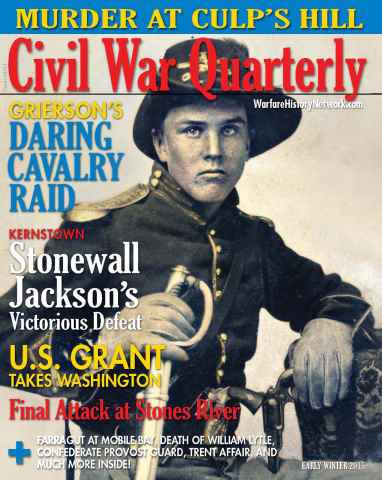 Civil War Quarterly issue Early Winter 2015
