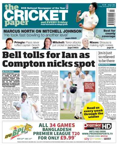The Cricket Paper issue 20th November 2015