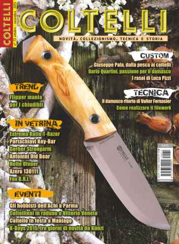 COLTELLI issue Ottobre-Novembre 2015