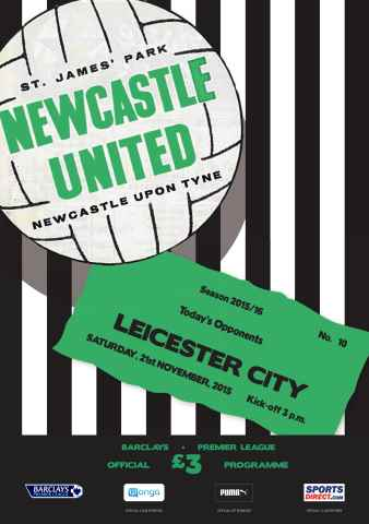 Newcastle United Programmes issue V Leicester City