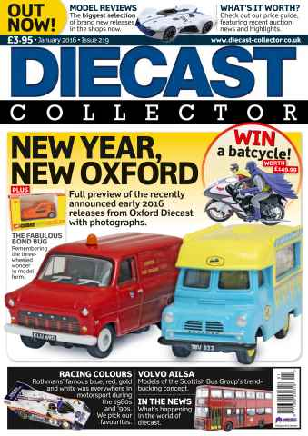 Diecast Collector issue January 2016 - OXFORD DIECAST EARLY 2016 RELEASES