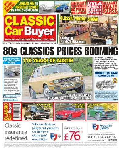 Classic Car Buyer issue No. 307 80s Classics Prices Booming