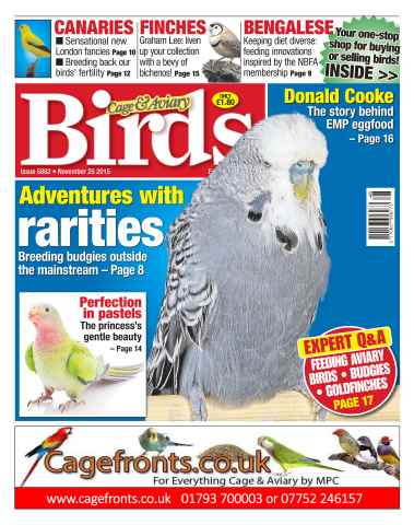 Cage & Aviary Birds issue No. 5882 Adventures With Rarities