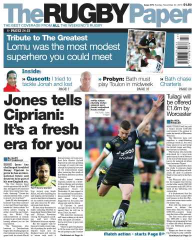 The Rugby Paper issue 22nd November 2015