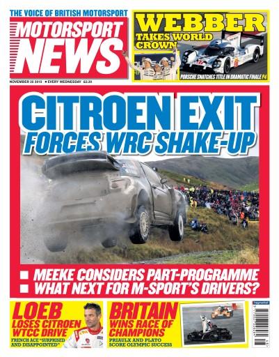 Motorsport News issue 25th November 2015