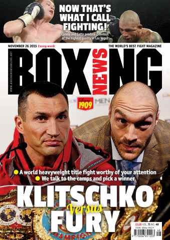 Boxing News UK issue 24/11/2015