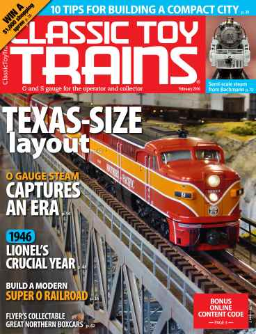 Classic Toy Trains issue February 2016