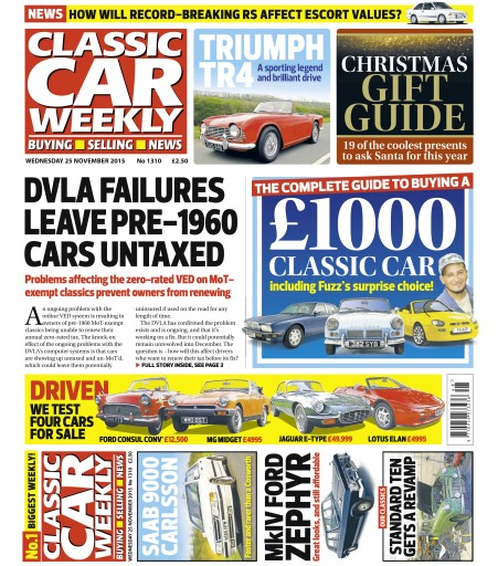 Classic Car Weekly issue 25th November 2015