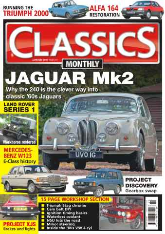 Classics Monthly issue No. 237 Jaguar MK2