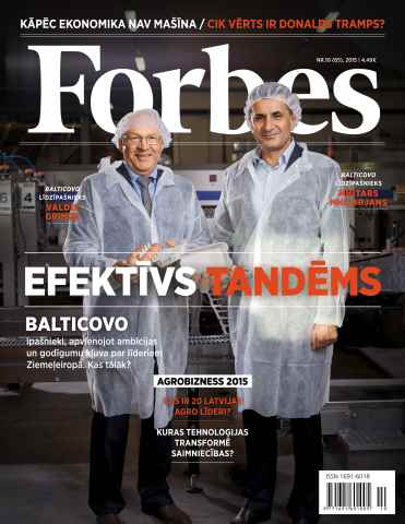 Forbes Latvia issue Forbes Novembris '15