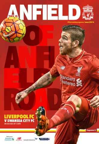 Liverpool FC Programmes issue Swansea 201516