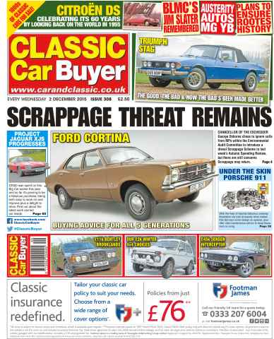 Classic Car Buyer issue No. 308 Scrappage Threat Remains