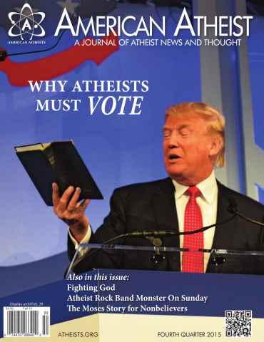 American Atheist issue Fourth Quarter 2015