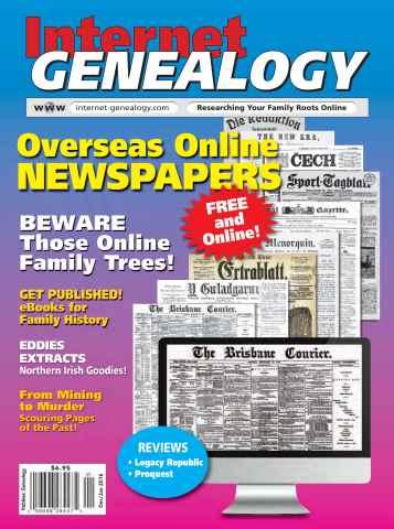 Internet Genealogy issue Dec-Jan 2016