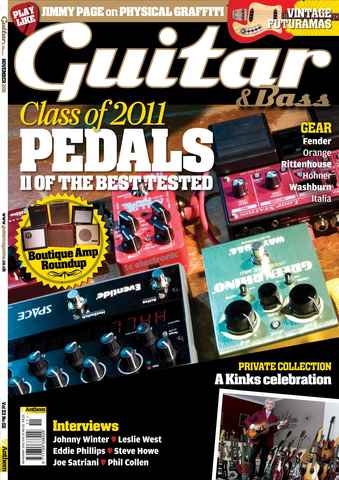 Guitar & Bass Magazine issue Nov 2011 Class of 2011 Pedals