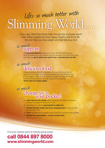 Slimming world nov dec 2011 Slimming world my account