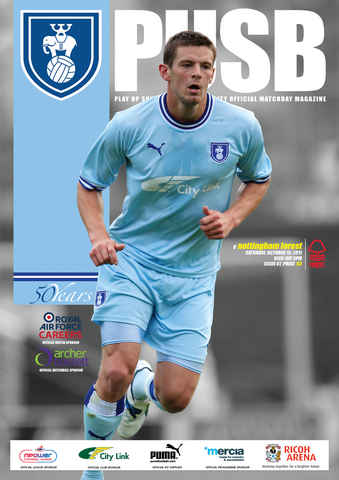 CCFC Official Programmes issue 07 V NOTTINGHAM FOREST (11-12)