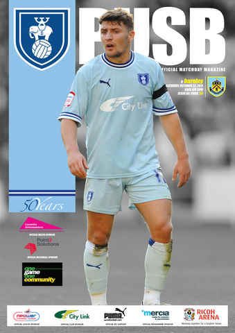 CCFC Official Programmes issue 08 V BURNLEY (11-12)