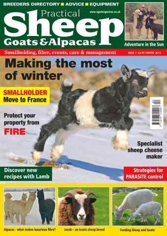 Sheep, Goats  & Alpaca issue No. 11 Making The Most Of Winter