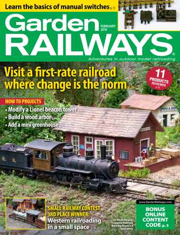 Garden Railways issue February 2016