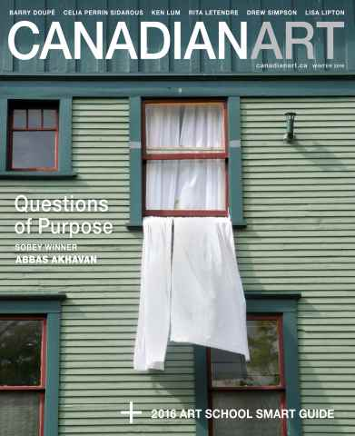 Canadian Art Magazine issue Winter 2015/2016