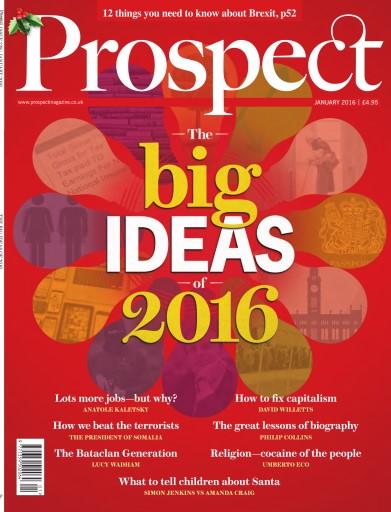 Prospect Magazine issue January 2016