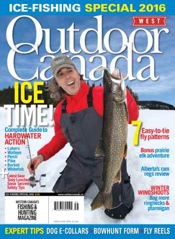 Outdoor Canada issue Ice Fishing Special West 2016