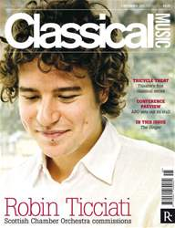 Classical Music issue Classical Music 5th November