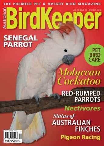 Australian Birdkeeper Magazine issue BirdKeeper Vol 28 Iss 12
