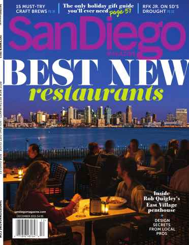 San Diego Magazine issue December 2015