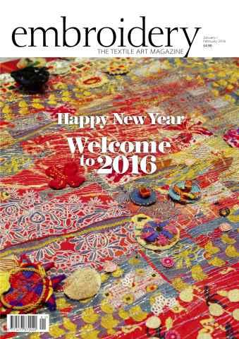 Embroidery Magazine issue January February 2016