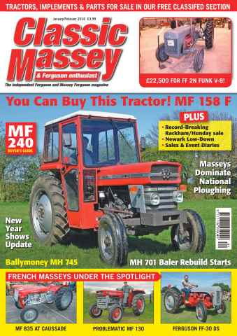 Classic Massey issue No. 60 You can buy this tractor! MF 158 F