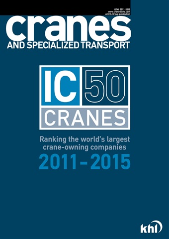 Int. Cranes & Specialized Transp issue IC 50 Cranes Toplist 2011-2015