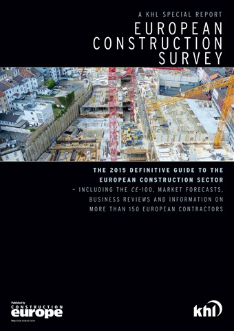 Construction Europe issue European Construction Survey 2015