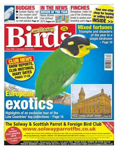 Cage & Aviary Birds issue No. 5886 European Exotics