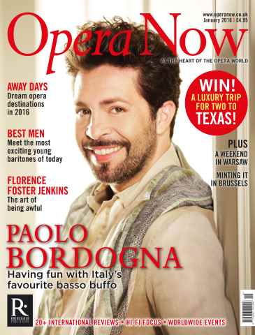 Opera Now issue January 2016