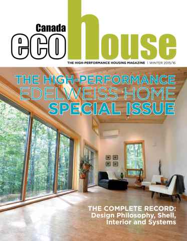 ecoHouse Canada issue Winter 2015/16