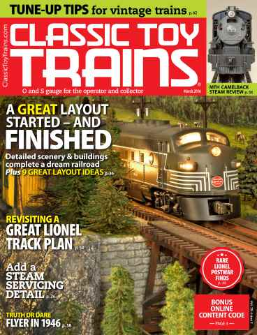 Classic Toy Trains issue March 2016