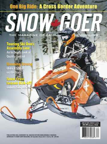 Snow Goer Canada issue January 2016
