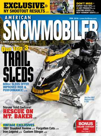 American Snowmobiler issue February 2016