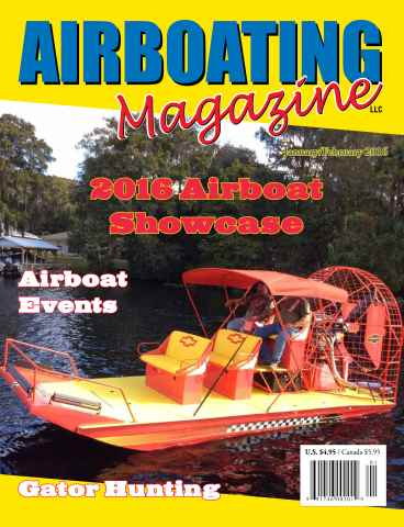 Airboating Magazine issue Airboating Magazine JanFeb 2016