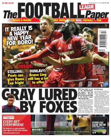 The Football League Paper issue 3rd January 2016