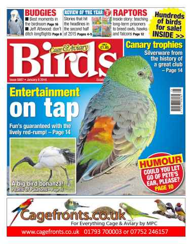 Cage & Aviary Birds issue No. 5887 Entertainment on tap