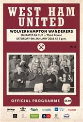West Ham Utd Official Programmes issue WOLVES
