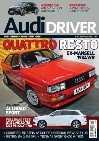 Audi Driver issue January 2016